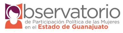Enlace al sitio del Observatorio de Participación Política de las Mujeres en el Estado de Guanajuato