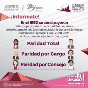 Consejos municipales y distritales. paridad 1